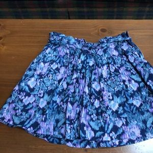 Old Navy navy blue, purple, and grey skirt